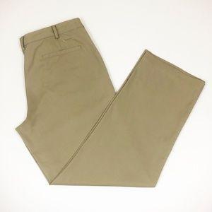 Nike Golf Dri-Fit Flat Front Khaki Tan Pants